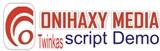 onihaxy media twinkas script logo
